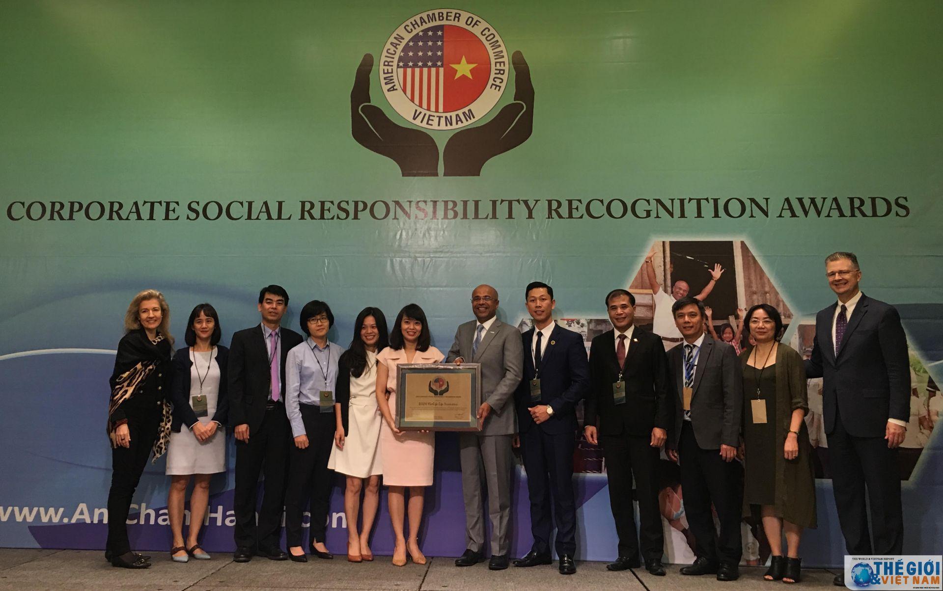 34 doanh nghiệp nhận giải thưởng CSR của Hiệp hội Thương mại Hoa Kỳ (AmCham)