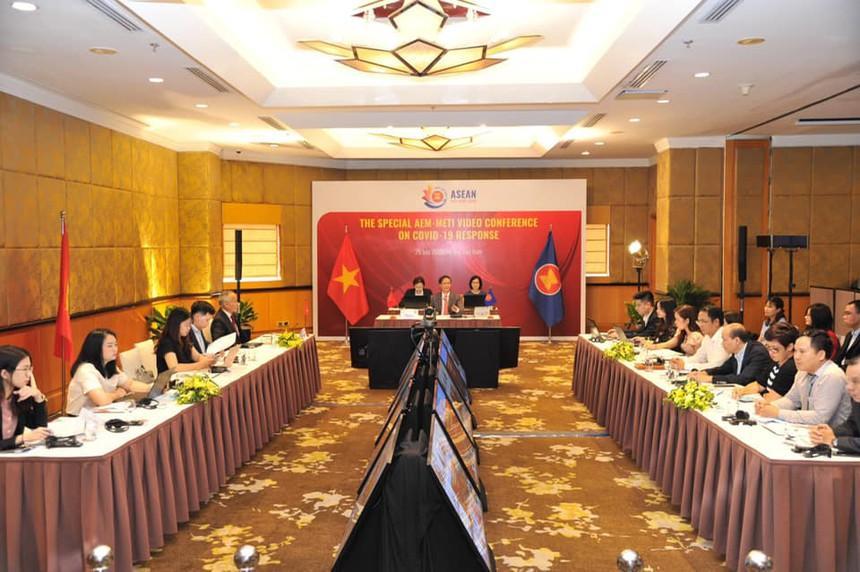 Hội nghị Bộ trưởng Kinh tế ASEAN - Nhật Bản về ứng phó đại dịch Covid-19 phục hồi kinh tế